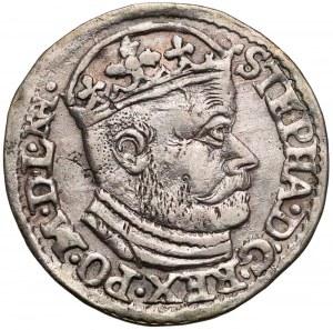 Stefan Batory, Trojak Olkusz 1586 - NH w otoku - rzadszy