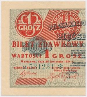 1 grosz 1924 - AA* - lewa połowa