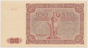 100 złotych 1947 - Ser.C - duża litera