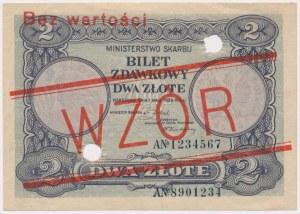 WZÓR 2 złote 1925 - perforacja