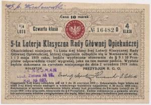 5-ta Loteria Rady Głównej Opiekuńczej, 1/4 losu 4 Kl.