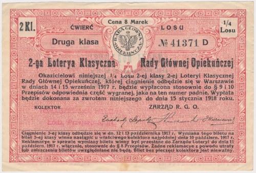 2-ga Loteria Rady Głównej Opiekuńczej, 1/4 losu 2 Kl.