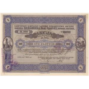 Galicyjskie Karpackie Naftowe T-wo Akc. dawniej Bergheim & Mac Garvey, 100 zł 1932