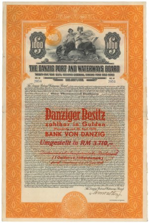 Gdańsk, The Danzig Port and Waterways Board, $1.000 1927