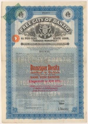 Gdańsk, Tobacco Monopoly, 50 funtów 1927