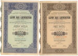 LILPOP, RAU & LOEWENSTEIN, 100 zł i 5x 100 zł 1937 (2szt)
