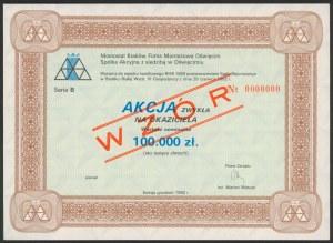 Akcja, Mostostal Kraków Firma Montażowa Oświęcim, WZÓR 100.000 zł 1992