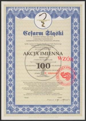 Akcja, Cefarm Śląski, WZÓR 100 zł 1999