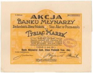 Bank Młynarzy Zachodnich Ziem Polskich, Em.1, 1.000 mkp 1921