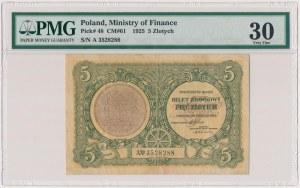 5 złotych 1925 - A - Konstytucja - PMG 30