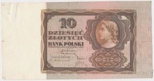 10 złotych 1928 - próba kolorystyczna - brązowy