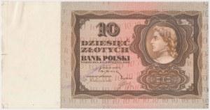 10 złotych 1928 - próba kolorystyczna awersu