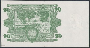 10 złotych 1928 - próba kolorystyczna warstwy głównej rewersu