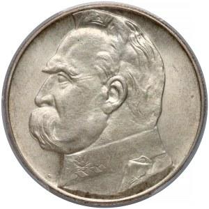 Piłsudski 10 złotych 1938 - PCGS MS64
