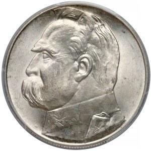 Piłsudski 10 złotych 1936 - PCGS MS63