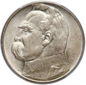 Piłsudski 10 złotych 1935 - PCGS MS62