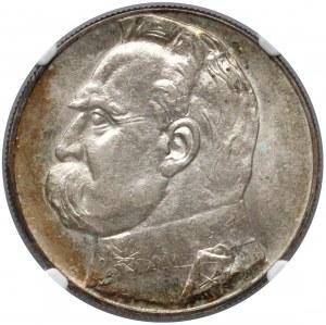 Piłsudski 10 złotych 1934 - urzędowy - NGC MS62
