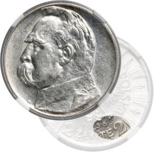 Piłsudski 2 złote 1936 - rzadki rocznik - NGC AU58