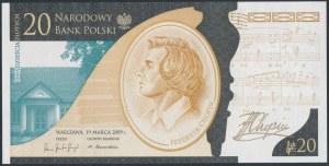 20 złotych 2009 Fryderyk Chopin - niski numer - FC 0000100
