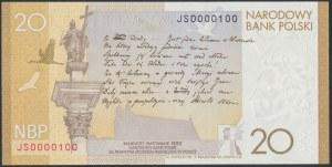 20 złotych 2009 Juliusz Słowacki - niski numer - JS 0000100