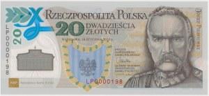 20 złotych 2014 Legiony Polskie - niski numer - LP 0000198