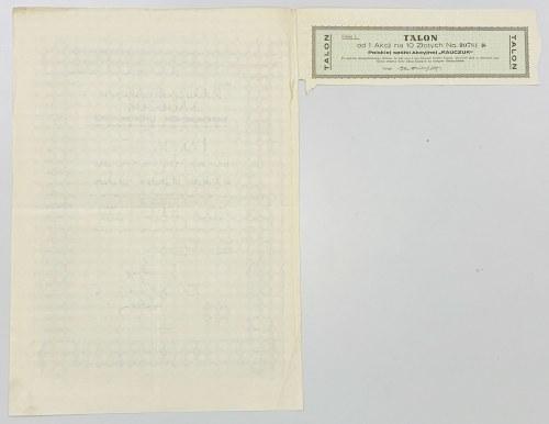 Kauczuk Polska Spółka Akc., Em.1, 10 zł 1927