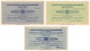 OLKUSZ Fabryka Naczyń Emaliowanych S.A, Em.1-4 - zestaw (3szt)