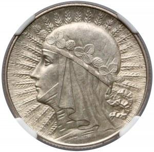 Głowa Kobiety 5 złotych 1934 - NGC MS62