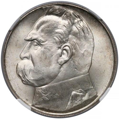 Piłsudski 10 złotych 1939 - piękne - NGC MS65