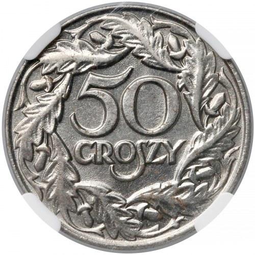 50 groszy 1938 - niklowane - NGC MS64 (MAX i jedyna)