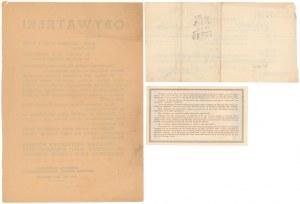 Poż. Obrony Przeciwlotniczej - bon, pokwitowanie i apel (3szt)