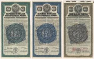 6% Poż. Dolarowa 1920, Obligacje $50, $100 i $1.000 - po konwersji (3szt)