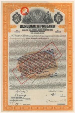 7% Pożyczka Stabilizacyjna 1927, Obligacja $100 TRANCHE FRANCAISE