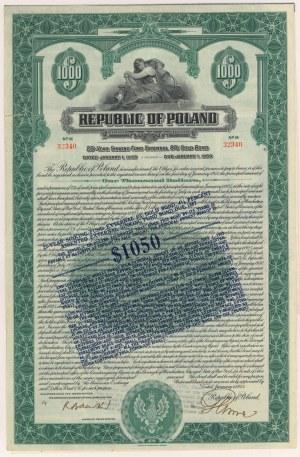 8% Poż. Dolarowa (amortyzacyjna) 1925, Obligacja $1.000 - po konwersji