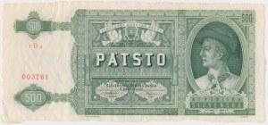 Słowacja, 500 korun 1941