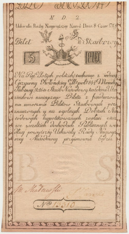 5 złotych 1794 - N.D 2. - Narodawey - ZOONEN