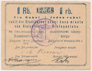 Białystok, 1 rubel 1915 - stempel KASSE DER...