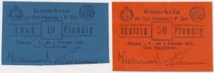 Kempen (Kępno), 10 i 50 pfg 1917 (2szt)