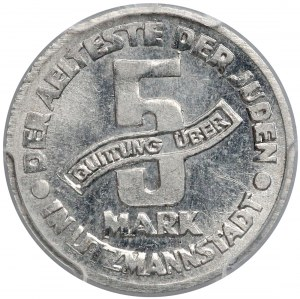 Getto Łódź, 5 marek 1943 Al - odm.II - PCGS MS63
