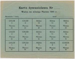 GG, Karta żywnościowa, Marzec 1941