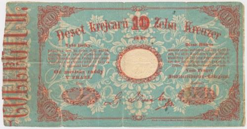 Czechy / Austria, Praga, 10 krejcaru 1848/49