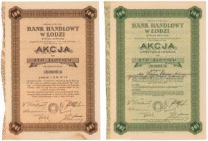 Bank Handlowy w Łodzi, Em.1-6, 100 zł 1935, imienna i na okaziciela (2szt)