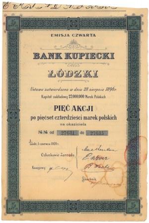 Bank Kupiecki Łódzki, Em.4, 5x 540 mkp 1920