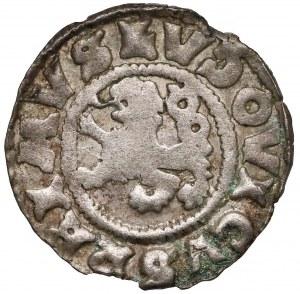 Czechy, Ludwik II Jagiellończyk (1516-1526) Denar jednostronny