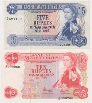 Mauritius, 5 i 10 rupees 1967 (2)