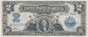 USA, 2 dollars 1899, Silver Certificate