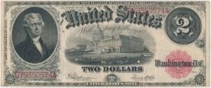 USA, 2 dollars 1917