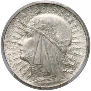 Głowa kobiety 5 złotych 1933 - PCGS MS62