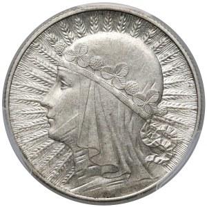 Głowa Kobiety 5 złotych 1932 bz, Londyn - PCGS MS62