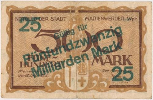 Marienwerder (Kwidzyn), 25 mld mk PRZEDRUK z 500 mk 1922